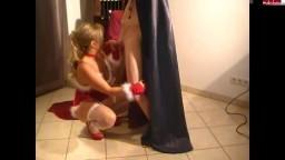Secret-DeLuxe - Tuer 6 - Knecht Ruprecht nagelt Miss Santa