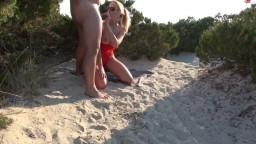 KikiVega - Dreist! Strand-Fremdfick mit Creampie