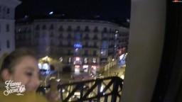 HannaSecret - Harter Creampie-Fick vom Zimmerservice - Ueber den Daechern von Barcelona