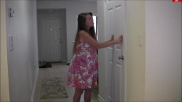 NikkiNevada - Pregnant MILF Nikki Has To Pee But The Bathroom Is Locked
