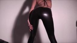 DeniseDELUXE19 - Wet Look Lack-Leggins